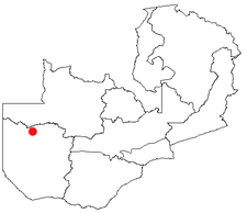 Location of Lukulu in Zambia