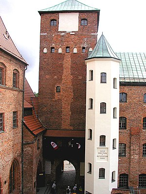 Darłowo Castle - View on the courtyard in the Castle of the Pomeranian Dukes