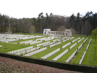 Buttes New British Cemetery cemetery in Zonnebeke, Belgium