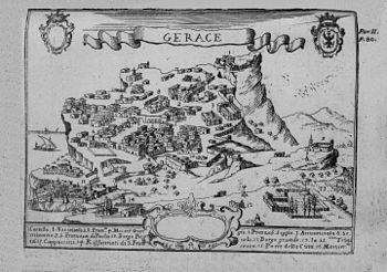 Gerace in una incisione del 1703