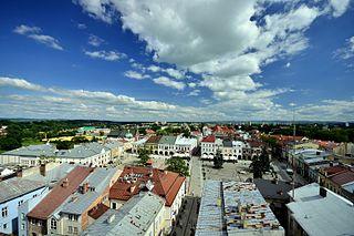 Krosno Place in Subcarpathian, Poland