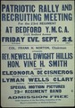 """Patriotic Rally and Recruiting Meeting for the 23rd regiment at Bedford Y.M.C.A...."" - NARA - 512605.tif"