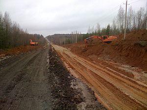 "Vyatka Highway - Overhaul of ""Vyatka"" highway between Yurja - Murashi, Kirov Oblast, October 2011"