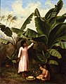 'Hawaiian Girls and Banana Plant' by Marguerite Girvin Gillin.JPG