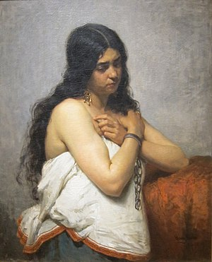 "Henry Mosler - ""The Quadroon Girl,"" Cincinnati Art Museum"