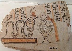 Meretseger - Image: Ägyptisches Museum Kairo 2016 03 29 Ostrakon 03