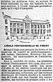 École professionnelle de Firminy, Le Petit Parisien, 14 janvier 1902.jpg