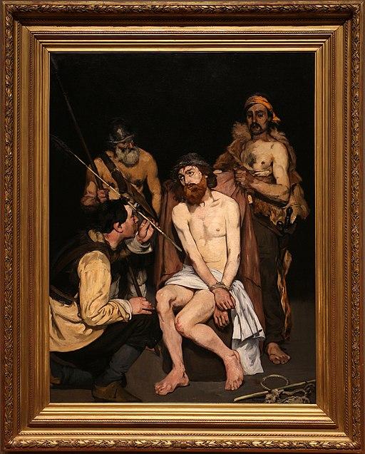 Édouard manet, cristo deriso dai soldati, 1865, 01