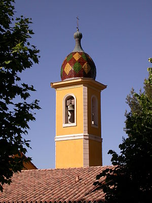 Saint-Blaise, Alpes-Maritimes - The bell tower of the church