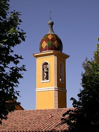 Saint-Blaise, Alpes-Maritimes - The bell tower of the church
