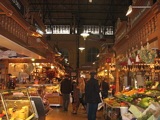 Market hall covered space traditionally used as a marketplace