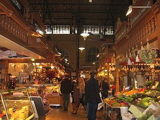 Market hall - Östermalms Saluhall, Stockholm, Sweden