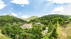 Tresonče - Panoramic view of the village