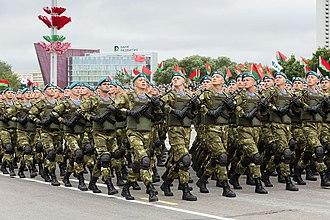 Guards unit - A Belarusian airborne guards unit.