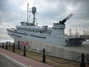 Торпедный катер ТКА-23 пр. 123К, памятник в г. Санкт-Петербурге.jpg