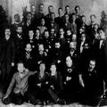 הרצל והפרקציה הדמוקרטית בקונגרס הציוני החמישי בבזל 1901. מתוך אוסף צנציפר-PHG-1002722.png