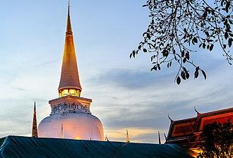 Wat - The main chedi in Wat Phra Mahathat, Nakhon Si Thammarat