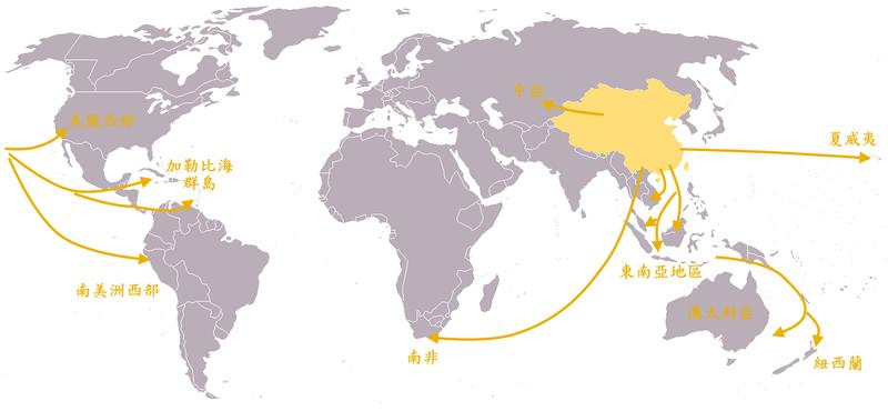 File:十九世紀華人移民全球路線圖.png