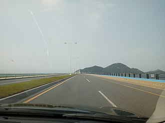 Saemangeum Seawall - 4th section of the seawall on Gunsan-bound