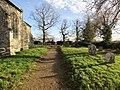 -2018-12-10 Churchyard footpath, Saint Margaret of Antioch parish church, Suffield, Norfolk.JPG