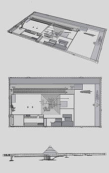 Pyramid of djoser wikipedia perspective view plan and elevation images djosers pyramid complex taken from a 3d model ccuart Choice Image