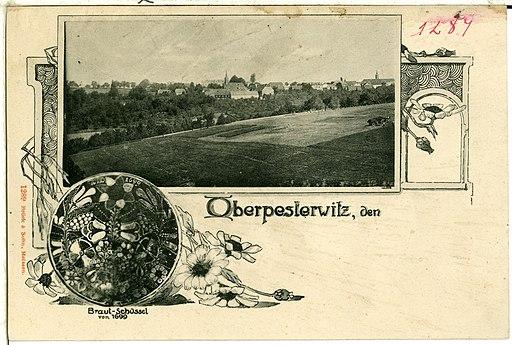 01289-Oberpesterwitz-1899-Gesamtansicht, Braut-Schüssel von 1699-Brück & Sohn Kunstverlag