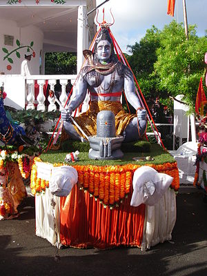 Maha Shivaratri - Meditating Shiva with lingam on Maha-Shivaratri