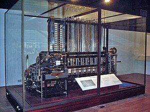 Replica - The replica Difference Engine No. 2 in the Science Museum, London