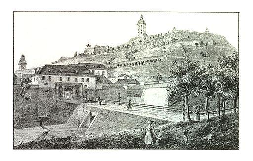 077 Graz Paulustor - J.F.Kaiser Lithografirte Ansichten der Steiermark 1830