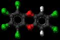1,2,3,4,7,8-Hexachlorodibenzodioxin molecule ball.png