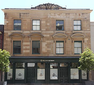 107-109 George Street, The Rocks - The façade of the building, pictured in 2019.