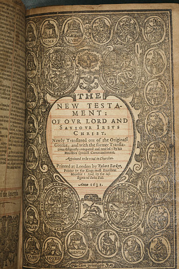 (KJV) 1631 Holy Bible, Robert Barker/John Bill...