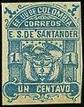 1886 1c EU de Colombia Santander unused Mi4a.jpg