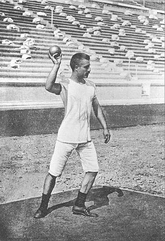 Shot put at the Olympics - The inaugural shot put in 1896