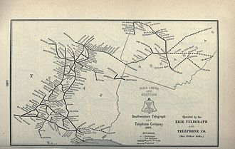 Southwestern Bell - 1897 map of service area