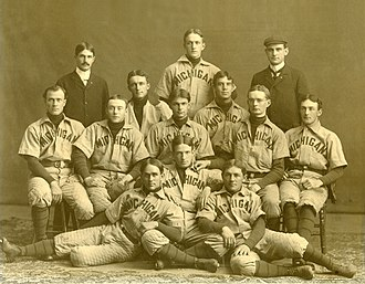 Michigan Wolverines baseball - 1899 team – Michigan's first conference champions