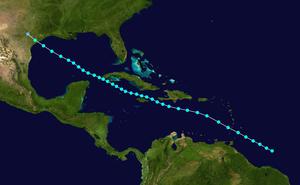 1901 Atlantic hurricane season - Image: 1901 Atlantic tropical storm 2 track