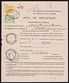 1913 Perth to Barton, Western Australia, Avis de Réception form.jpg