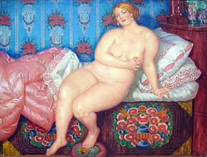 The Beauty - Image: 1915 Kustodiev die Schoene anagoria