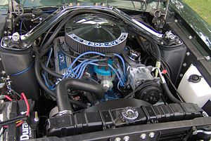"Ford Windsor engine - A 302 ""4V"" V8 in a 1968 Mercury Cougar"