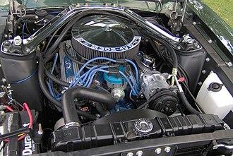 """Ford Windsor engine - A 302 """"4V"""" V8 in a 1968 Mercury Cougar"""
