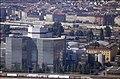 197L04180890 Blick vom Donauturm, Bahnhof Wien Nord, Handelskai, links Gebäude der Pensionsversicherung, rechts Weschelstrasse,.jpg