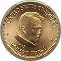 1983 Robert Frost One-Ounce Gold Medal (obv).jpg