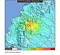 1987 Ecuador-Colombia earthquakes ShakeMap.jpg
