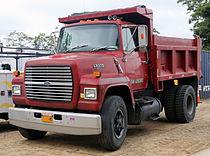 1989 Ford LN8000 Diesel dump truck, red.jpg
