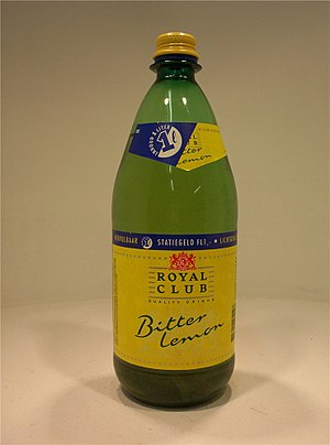 Royal Club (brand) - 1 liter refillable PET bottle Royal Club bitter lemon, 1994