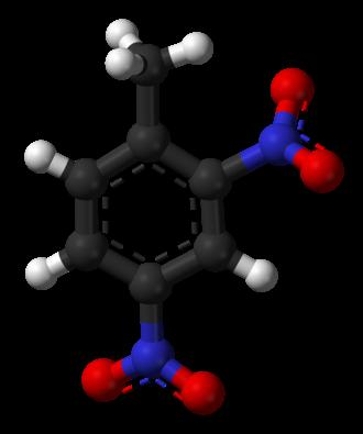 2,4-Dinitrotoluene - Image: 2,4 Dinitrotoluene 3D balls