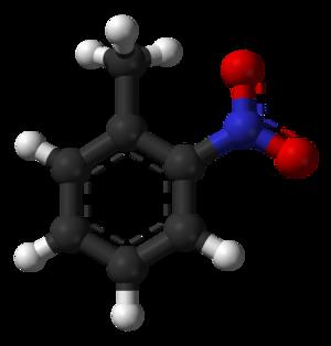 2-Nitrotoluene - Image: 2 Nitrotoluene 3D balls