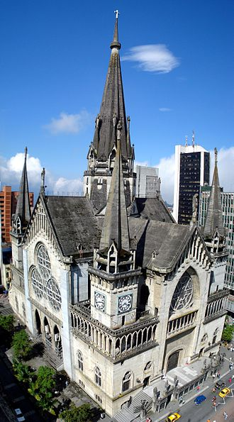Manizales - The Cathedral of Manizales, a neo-Gothic church