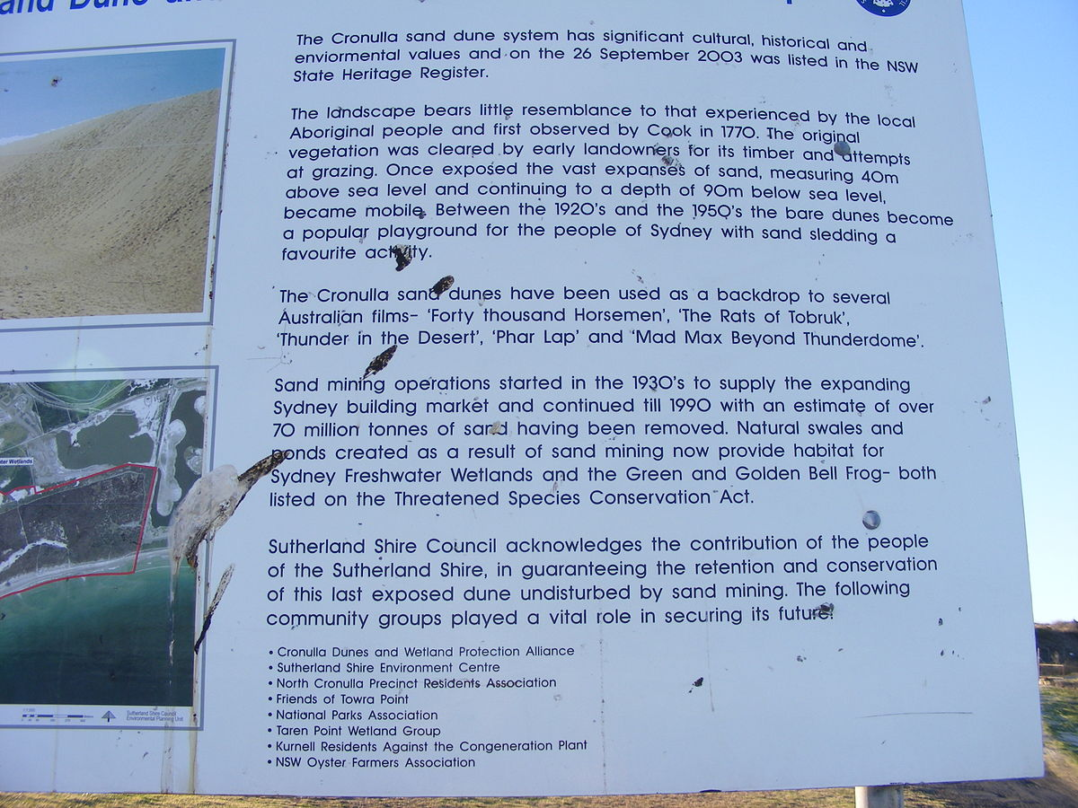 Bukit pasir Cronulla, Semenanjung Kurnell - Wikipedia bahasa